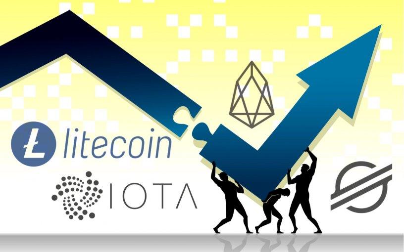 Litecoin (LTC), EOS (EOS), IOTA (MIOTA), Stellar (XLM) Price